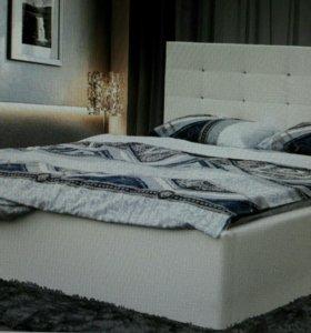Кровать Виктория 1,4 бежевая