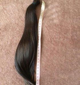Хвост из натуральных славянских волос