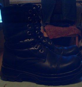 Кожанные сапоги и ботинки, туфли