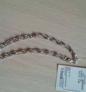 Новая серебряная цепь 6 гр