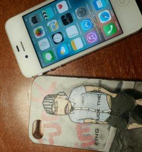 Телефон iPhone 4,8 гб