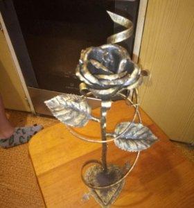 Розы кованные ручной работы