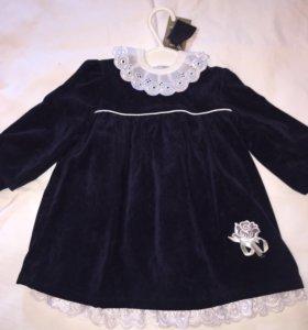 Платье вельветовое на 1 годик