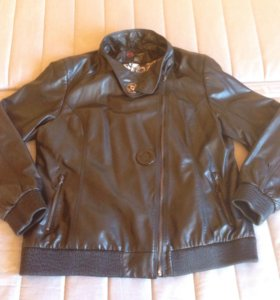 Куртка из кожзама б/у