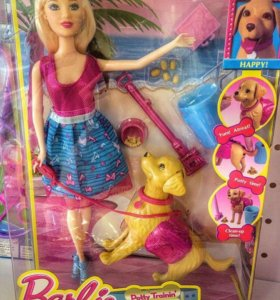 Кукла Барби с собачкой