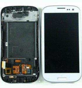 Дисплей Samsung i9300/i9300I модуль Белый TFT