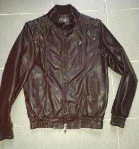 Кожаная куртка подростковая р 44