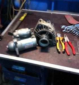 Ремонт стартеров,генераторов,снятие установка.