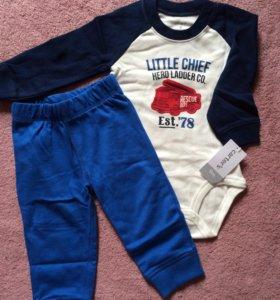 Carters комплект боди штанишки