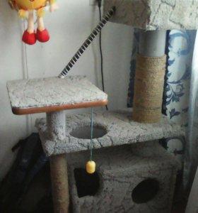Дом для кошки, самодельный