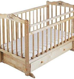 СРОЧНО!Детская кроватка качалка+матрас ортопед-кий