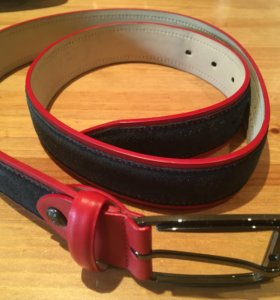 Ремень брючный Henderson красный с синим 115см