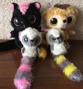 Лемуры(4шт. Мишка в подарок)