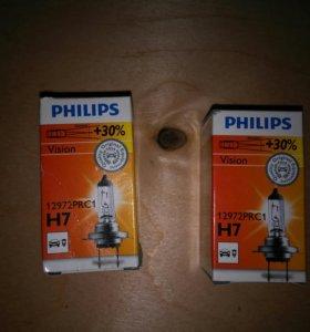 Лампа галогеновая H7. Philips.