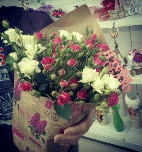 Букет из мелкоцветной розы