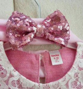 Нарядное платье для девочки 9-12 месяцев