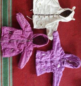Куртки на девочку 1—2 года