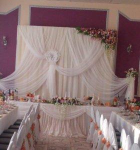 Свадебные украшения , оформление зала .