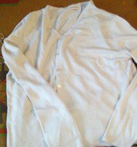 Кардиган,Кофта молочного цвета54 размер