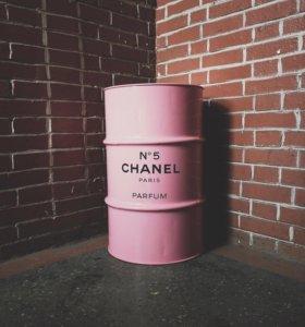 Бочки Шанель Chanel, интерьерные, дизайнерские
