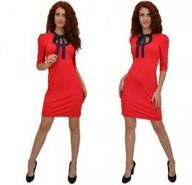 Новое красное платье р.44