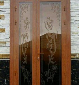 Пластиковые алюминиевые окна и двери витражи