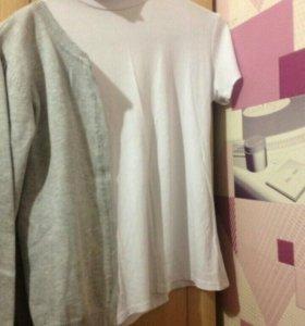 Кофта и белая школьная футболка