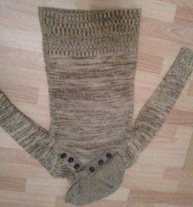 Зимний свитер-платье