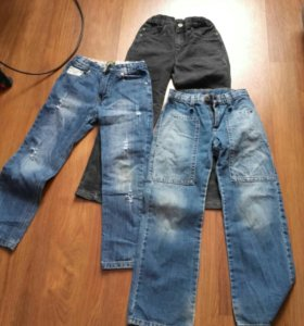 джинсы 3шт р. 134.