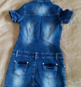 Джинсовое платье,облегающее.Турция