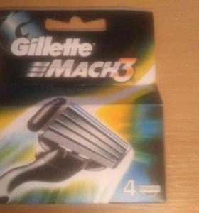 Сменные кассеты Gillette Mach3 4шт.