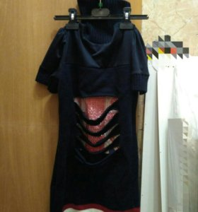 Платье с отдельными рукавами