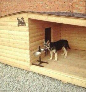 Монтаж собачьей конуры на заказ