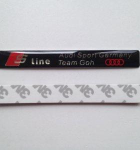 Эмблема S line Audi tuning много разных эмблем