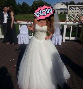 Свадебное платье 40-46р. Можно в аренду