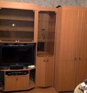Стенка с двумя платинными шкафами