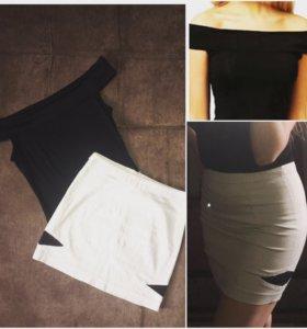 Комплект юбка и топ