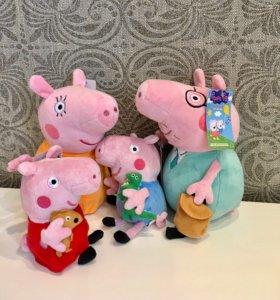 Свинка Пеппа с семьёй , игрушки 4 шт.