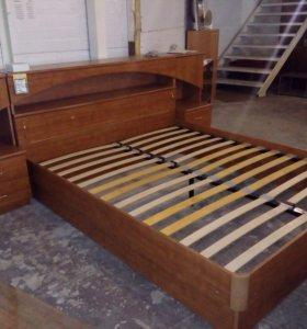 Кровать с тумбами бу