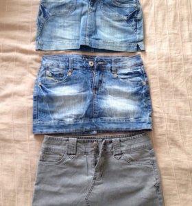 Джинсовые юбки XS-S