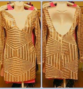 Платье пайетки новое