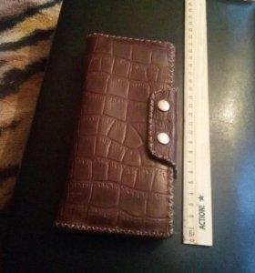 Кожаный мужской кошелёк ручной работы