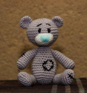 Вязаная игрушка ручной работы Мишка Тедди.