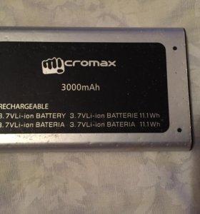 Аккамулятор для micromax