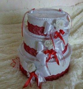 Свадебная казна-торт