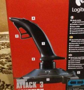 Джостик игровой для PC Logiteh ATTACK 3.