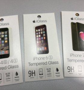 Защитные стекла на 4 6 и 7 айфоны