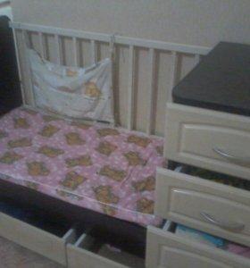 Срочно!!! Кровать-трансформер+матрас