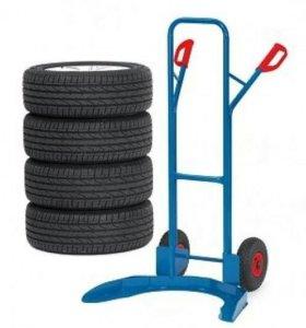 Тележка для транспортировки колес