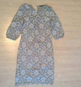 Блузка, платье, босоножки